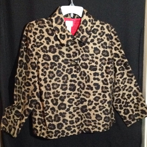 Chico's Jackets & Blazers - Chico's Jacquard Swing Jacket